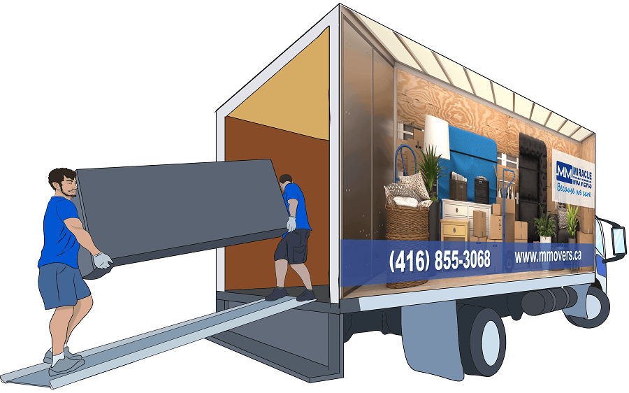 Long Distance Moving Service in Toronto Loading Heavy Items